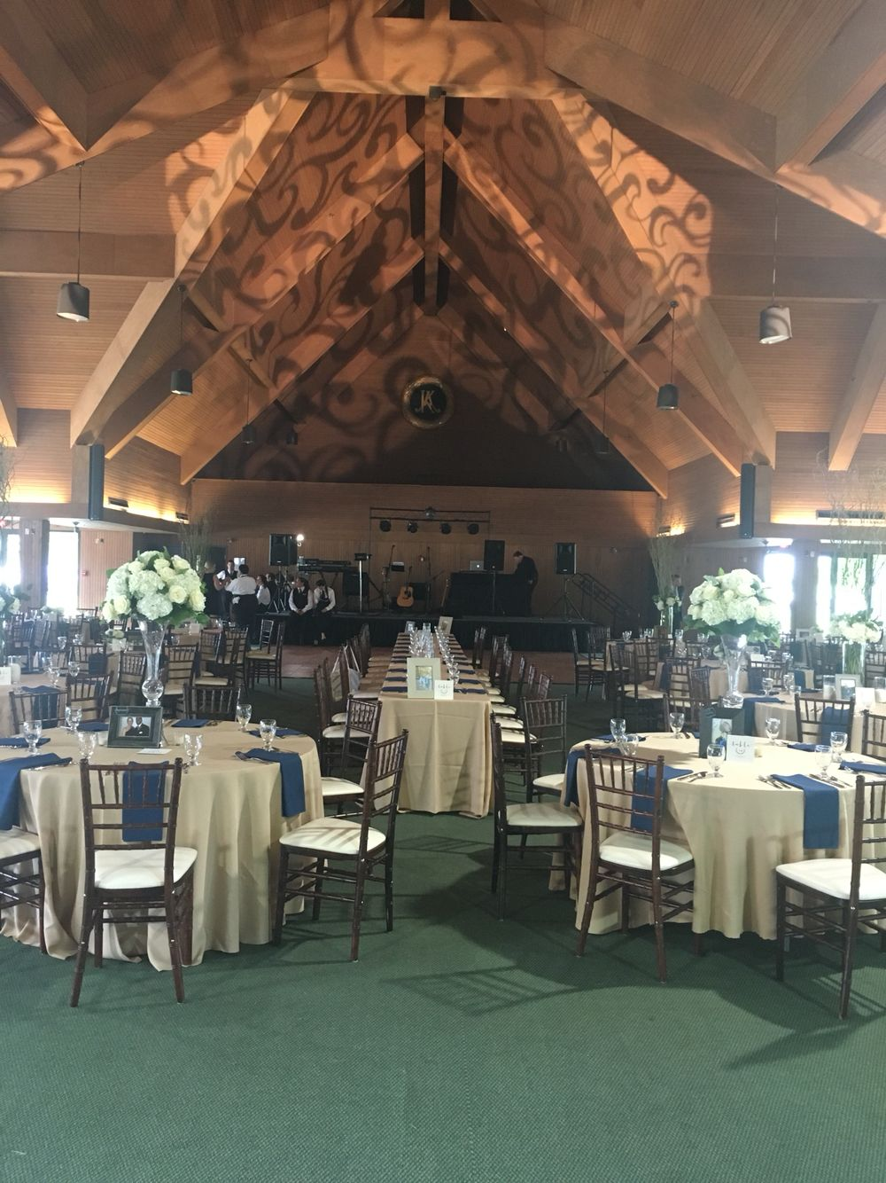 Ceiling Lighting For Rustic Wedding At Keeneland Entertainment