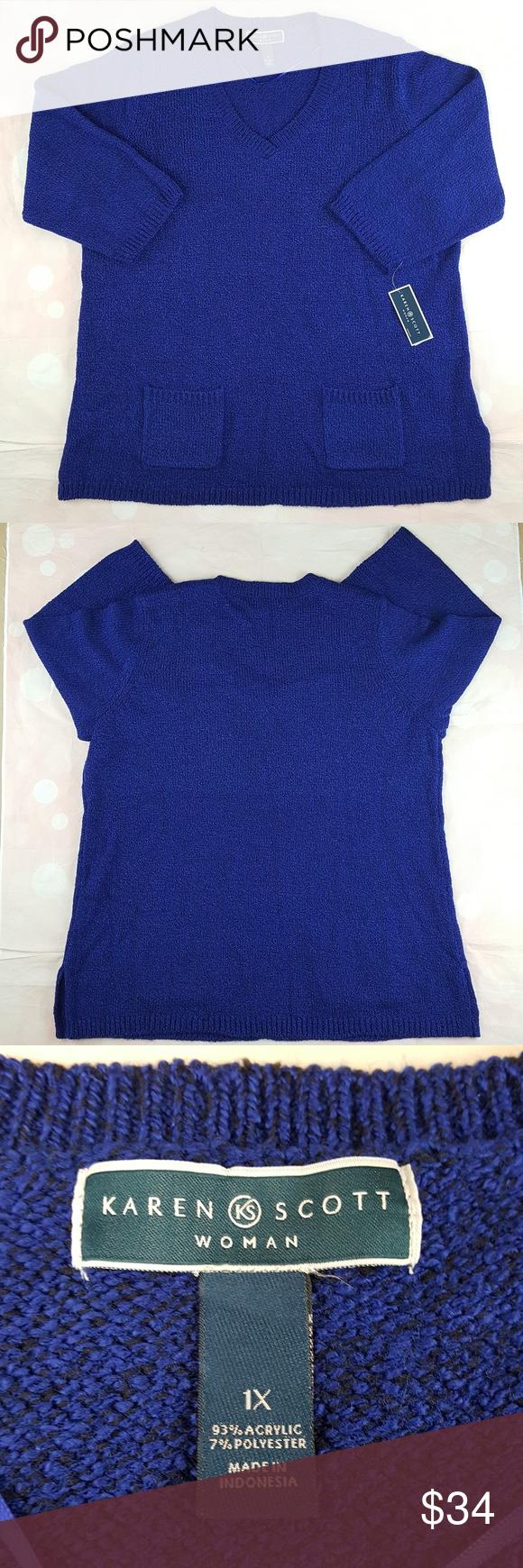 f435df2fe724d Karen Scott Woman Marled Knit Sweater Sz 1X New with tag. Retail  50 Karen  Scott