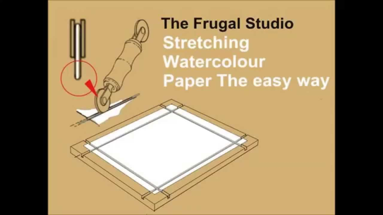 How To Stretch Watercolor Paper With Homemade Stretcher In 4