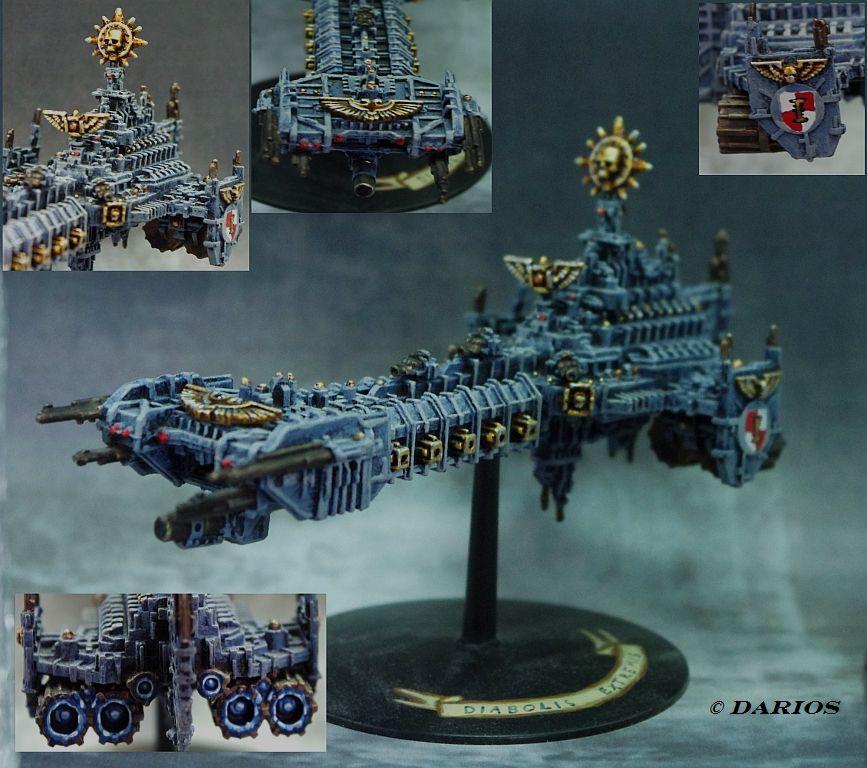 Grey Knights Battlebarge Diabolus Extermis Battlefleet Gothic