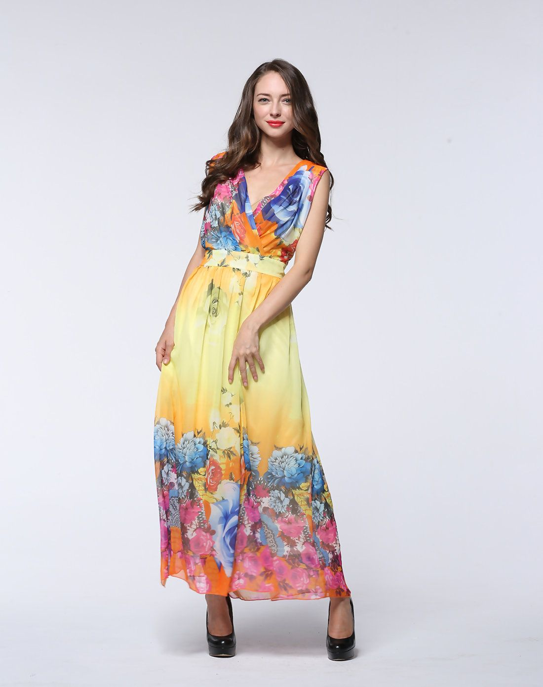 adorewe #vipme plus size dresses - chao meng plus size yellow