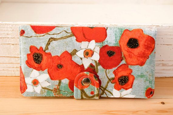 BiFold Wallet Clutch  Handmade Wallet  Vegan Wallet by cottonpurr, $50.00