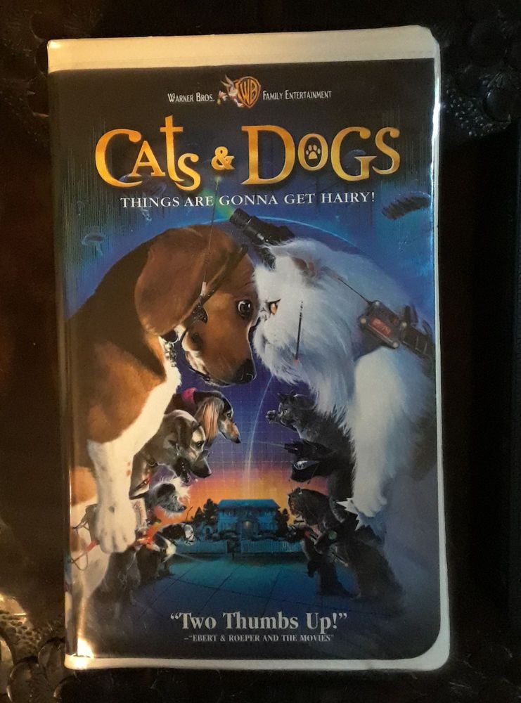 Warner Bros Cats Dogs Things Are Gonna Get Hairy Vhs 2001 Cat
