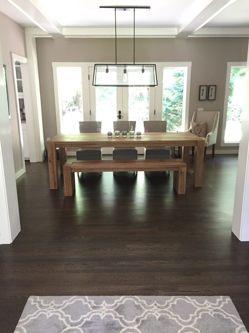 Rh Reclaimed Russian Oak Parsons Oak Dining Table New Homes Dining