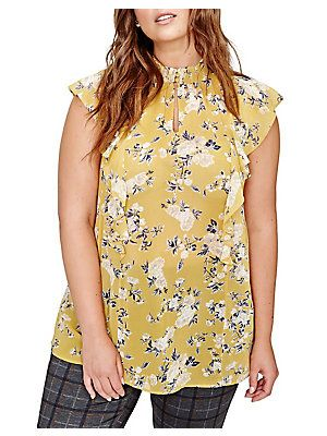 a7dbcc3aa8f Addition Elle Michel Studio Floral Swing Blouse | Wear in 2019 ...