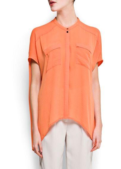 Oversized sheer blouse