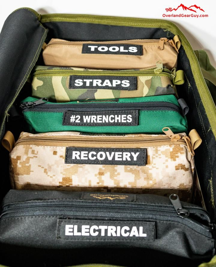 Overland Tool Bag Organizer Kit - Complete Set