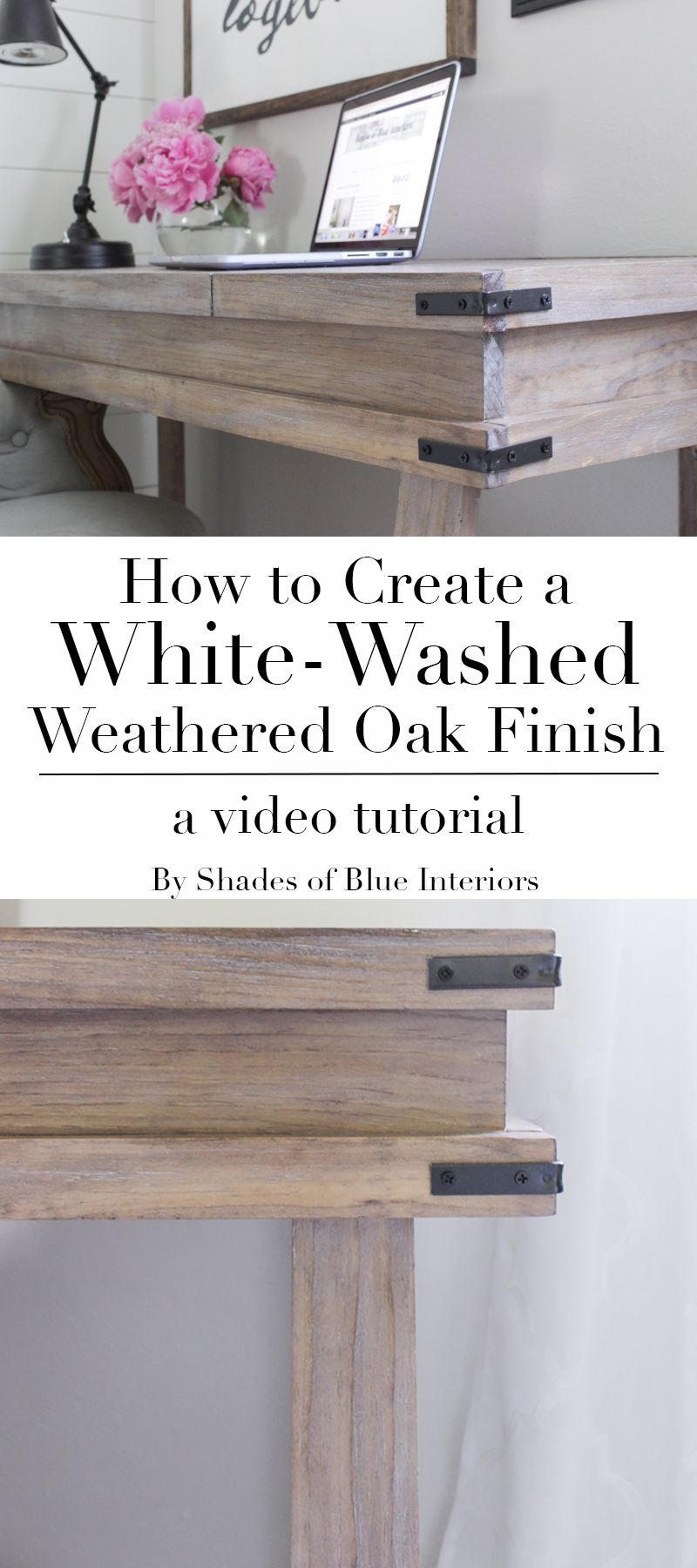 How to achieve a white washed weathered oak finish on plain smooth pine by creating a raised grain staining and sealing and then using white wax