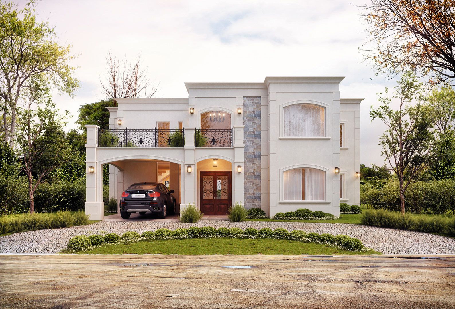 Galeria fotos estudio nf y asociados arquitecto for Casas clasicas modernas