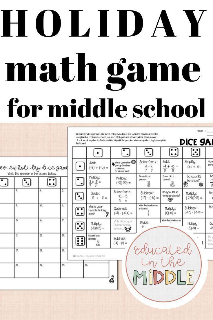Holiday Math Game