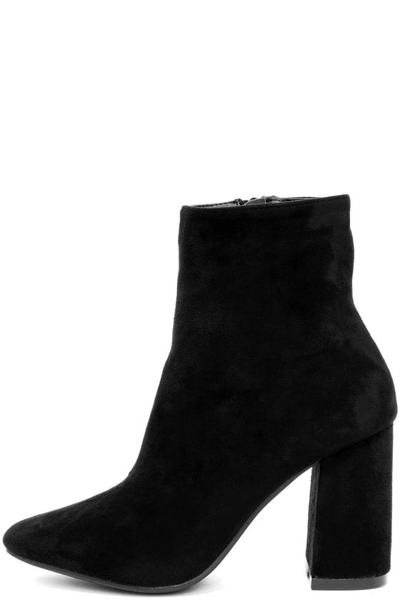 My Generation Black Suede High Heel Mid Calf Boots Black Heel Boots Suede High Heels Tan Knee High Boots