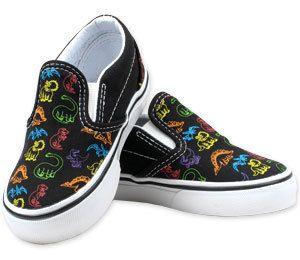 1ed8b34ee6c620 Vans Classic Slip-on Multi-Dinosaurs Shoes   Kid Vans Shoes   Footwear    Black Wagon