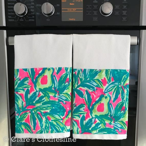 Lilly Pulitzer Hand Towel - Lilly Pulitzer Guac and Roll Dishtowel - Kitchen or Bathroom Hand Towe