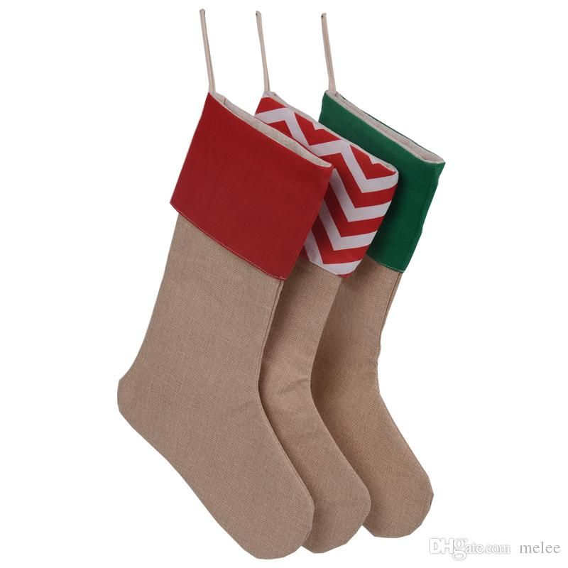 new arrival high quality 2017 canvas Christmas stocking gift bags