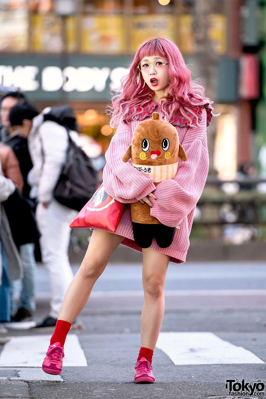 Hikapu in Kawaii Pink Harajuku Street Style w/ Nebaarukun
