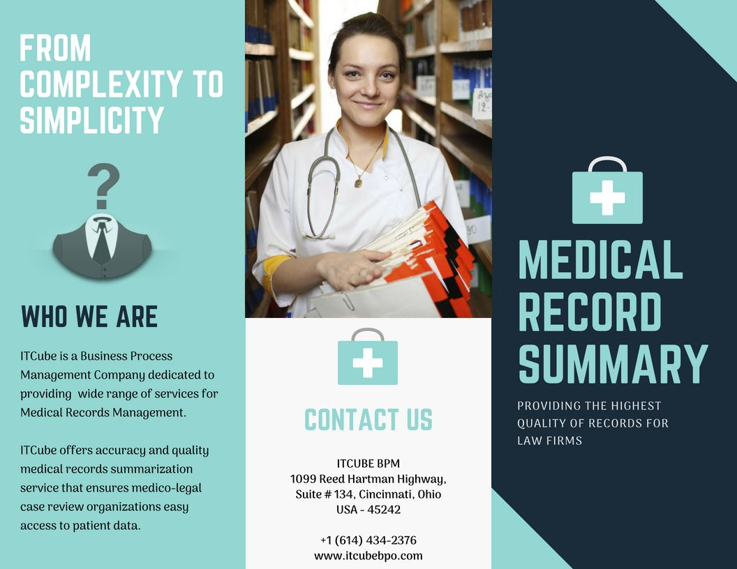 Medical Records Summary From Complexity To Simplicity Medical Records Records Management Business Process Management