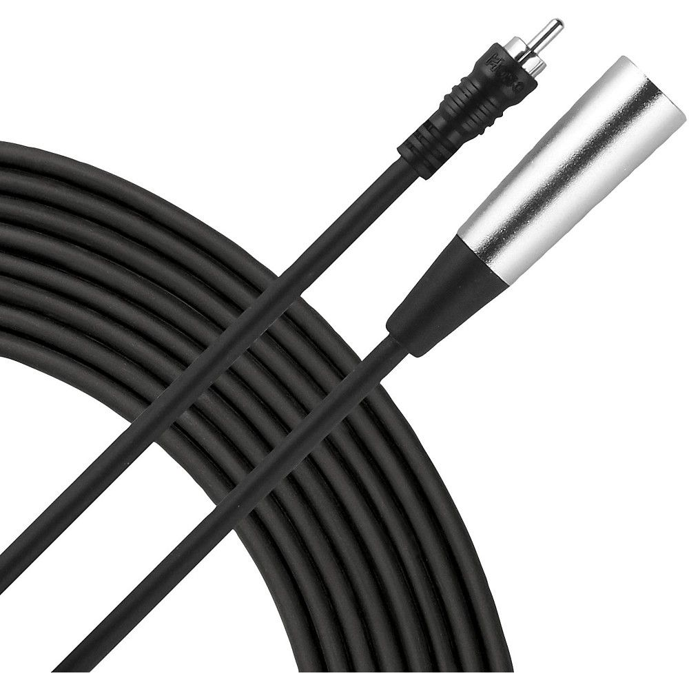 Livewire Essential Interconnect Cable Rca Male To Xlr Male 10 Ft Black Audio Cable Rca Audio