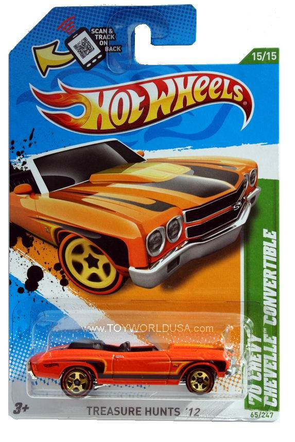 details about 2012 hot wheels treasure hunt 65 1970 chevrolet chevelle convertible - Hot Wheels Cars 2012