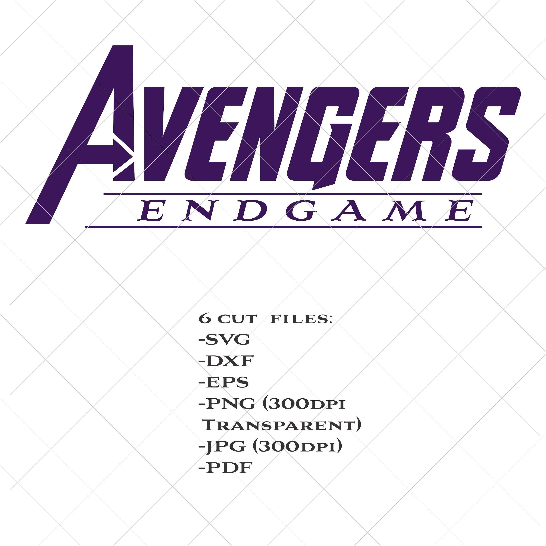 Avengers Endgame logo svg, Avengers svg, Thanos svg, dxf
