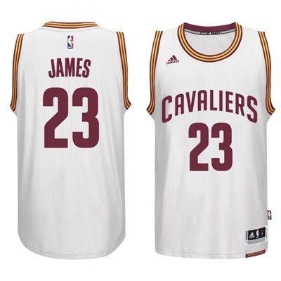 2014-2015 Adidas NBA Cleveland Cavaliers 23 Lebron James New Revolution 30  Swingman White Jersey