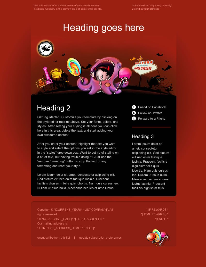 Premium Holiday Email Template For Mailchimpcom Available For Free - Mailchimp holiday templates