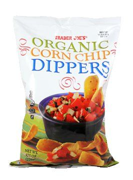 Pin for Later: Send Your Kids Back to School Nut Free With These Trader Joe's Snacks Organic Corn Chip Dippers Whether you serve them with a dip or alone, these corn chip dippers will be the star of any lunch bag.