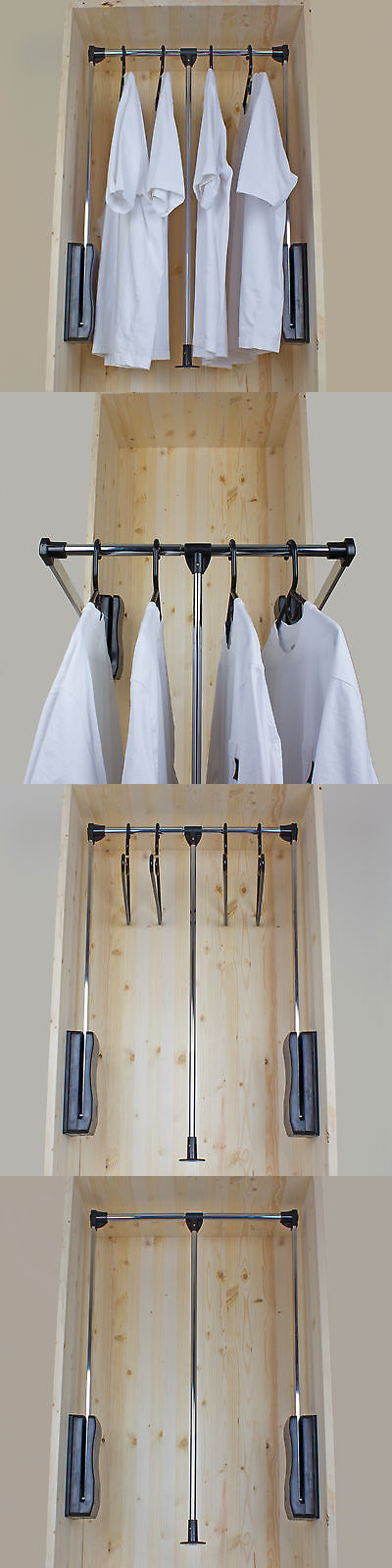 Good Closet Organizers 43503: Gliderite Hardware Pull Down Wardrobe Lift Closet  Rod System  U003e