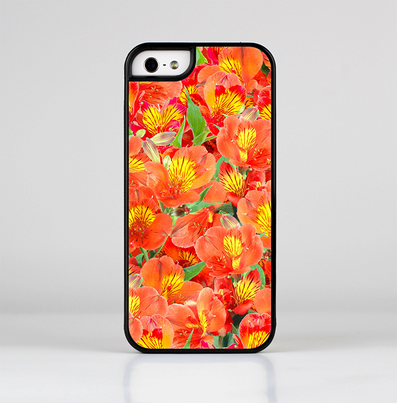 The Red and Yellow Watercolor Flowers Skin-Sert for the Apple iPhone 5-5s Skin-Sert Case