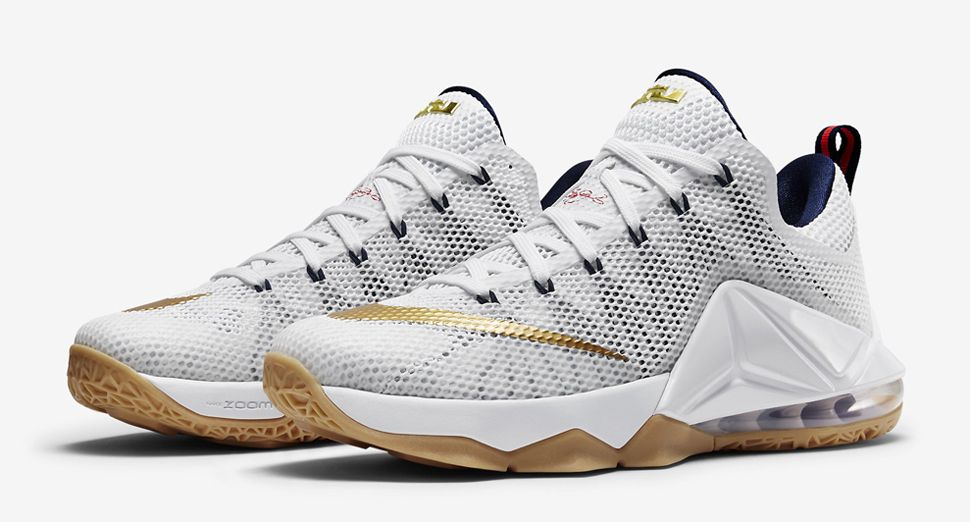 "wholesale dealer 895e4 42d5f Nike LeBron 12 Low ""Team USA"""