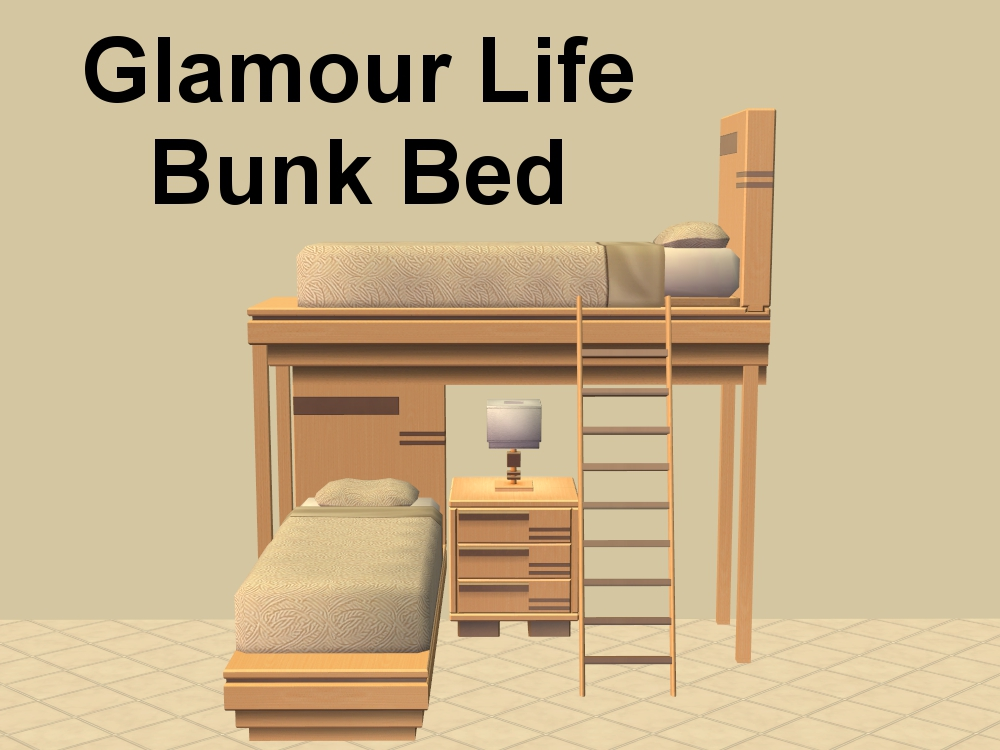 Mod The Sims Glamour Life Bunk Bed in 2020 Sims 4 loft