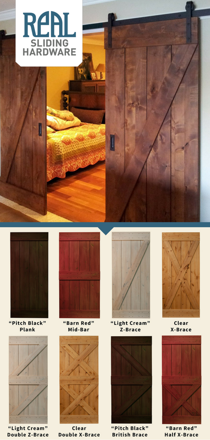 With 6 timeless door designs and 4 different stains to choose from Real Sliding Hardwareu0027s Rustic Alder Barn Door can be made to suit any home decor ... & With 6 timeless door designs and 4 different stains to choose from ...
