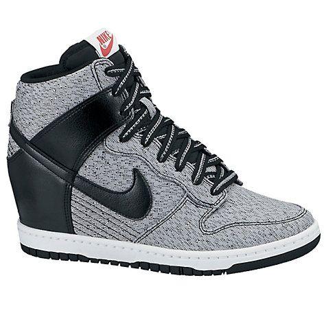 buy popular 5ca87 baf08 Buy Nike Dunk Sky Hi Mesh Wedge Trainers, Grey Online at johnlewis.com ...,Nike  Dunk köp