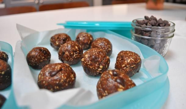 Double Chocolate Chia Protein Balls Recipe Food Recipes Protein Ball Food