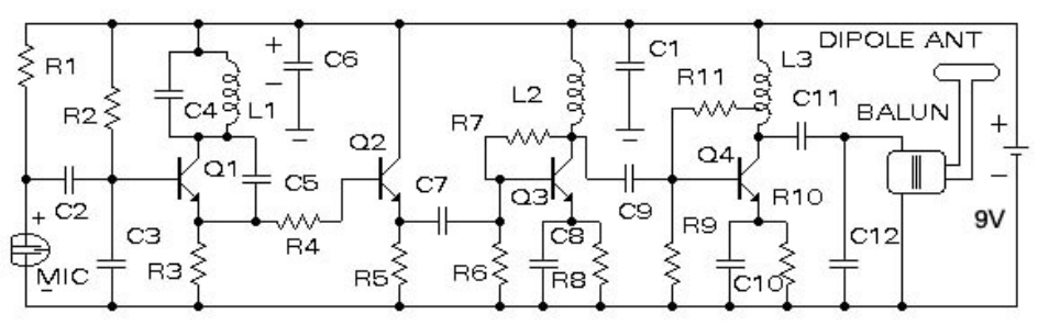 JOY\'S BLOG: 2KM FM Transmitter Circuits Diagram With PCB | fm ...