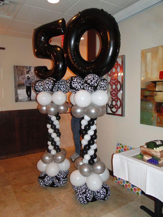 50 a os para hombre cumplea os 50 pinterest 50 a os ideas para fiesta de cumplea os y globo - Decoracion con globos 50 anos ...