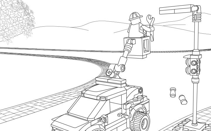 LEGO Coloring Sheet. 60054 Light Repair Truck | LEGO® Coloring ...