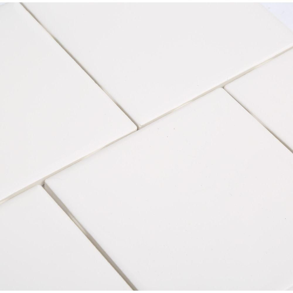 Daltile Semi Gloss White 4 1 4 In X 4 1 4 In Ceramic Wall Tile 12 5 Sq Ft Case 0100441p4 With Images Daltile Ceramic Wall Tiles Wall Tiles