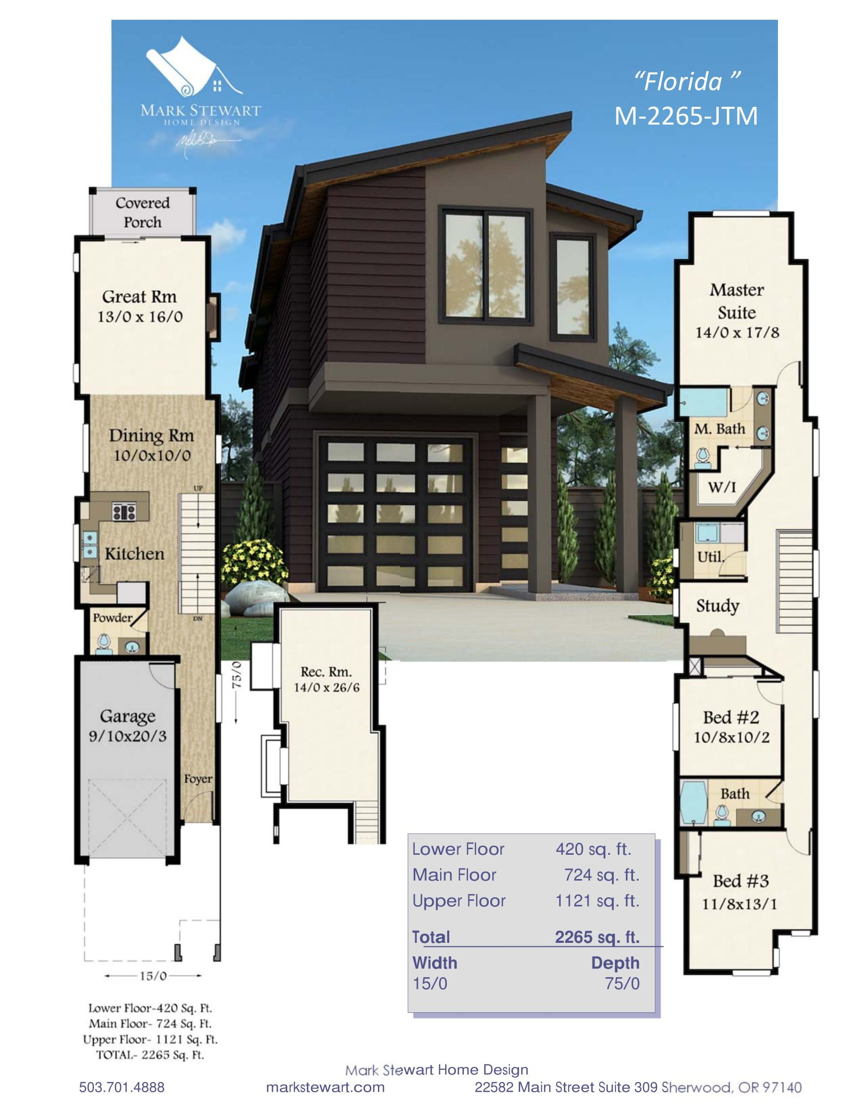 Narrow Modern House Plan With Modern Styling And Affordable Structure House Plans Modern House Plan Modern House Plans