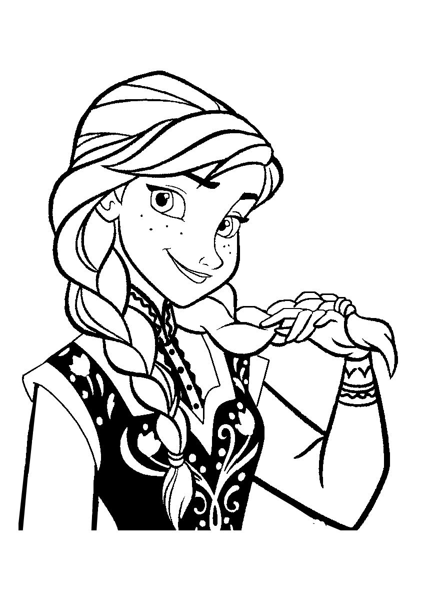 To print coloriage la reine des neiges anna 4