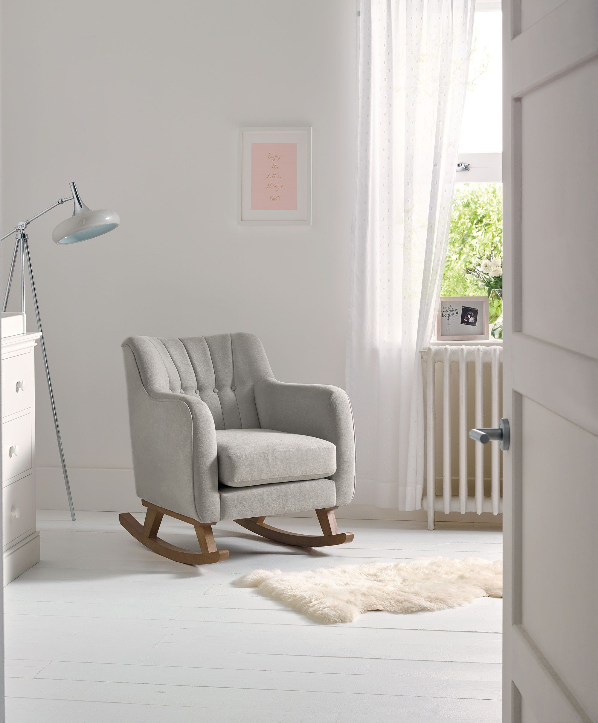 Baby Nursing Chair Hilston Nursing Chair Silver Baby Room Nursing Chair Baby