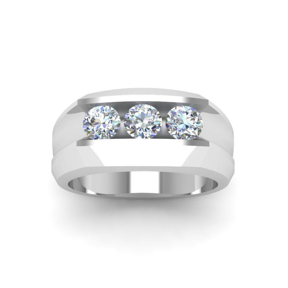 Mens Three Stone Diamond Wedding Ring | Anniversary gifts ...
