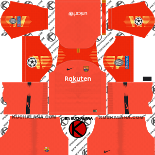 F C Barcelona 2018 19 Nike Ucl Kit Dream League Soccer Kits Soccer Kits Barcelona Champions League Barcelona Soccer