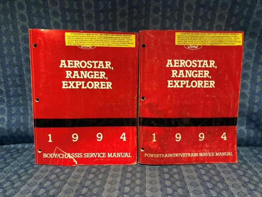 1994 ford thunderbird fuse box diagram 1994 ford ranger explorer aerostar oem service manuals 2 volume  1994 ford ranger explorer aerostar oem