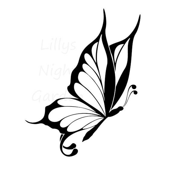Butterfly Stamp Digistamp Digital Stamp by lillysnightgarden, $2.00