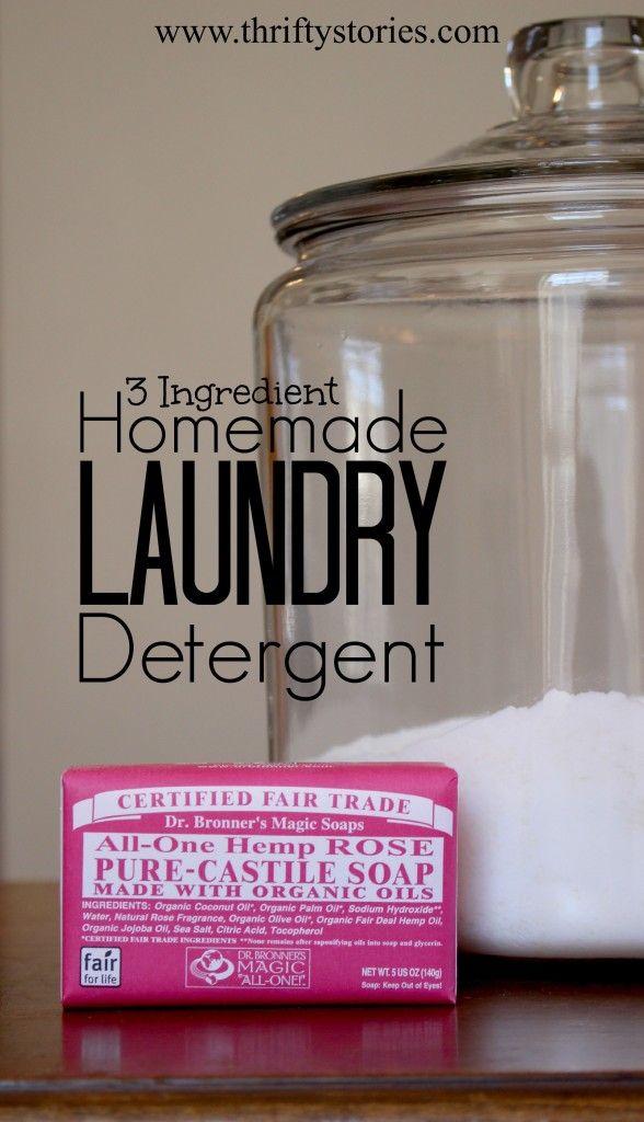 Diy 3 Ingredient Homemade Laundry Detergent Recipe Make It