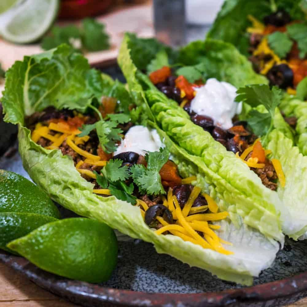 Ground Beef Lettuce Wrap With Cilantro Recipe Beef Lettuce Wraps Ground Beef Ground Beef Recipes