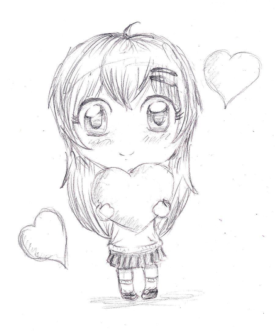 Картинки аниме для срисовки легкие и красивые для начинающих