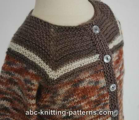 Baby Seamless Cardigan Knit Knitting Free Pattern Freepattern