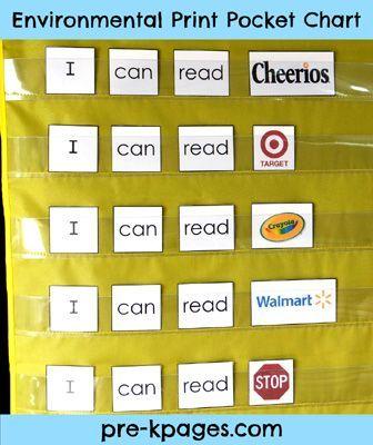 What is environmental print anchor charts  foldables literacy preschool also rh pinterest