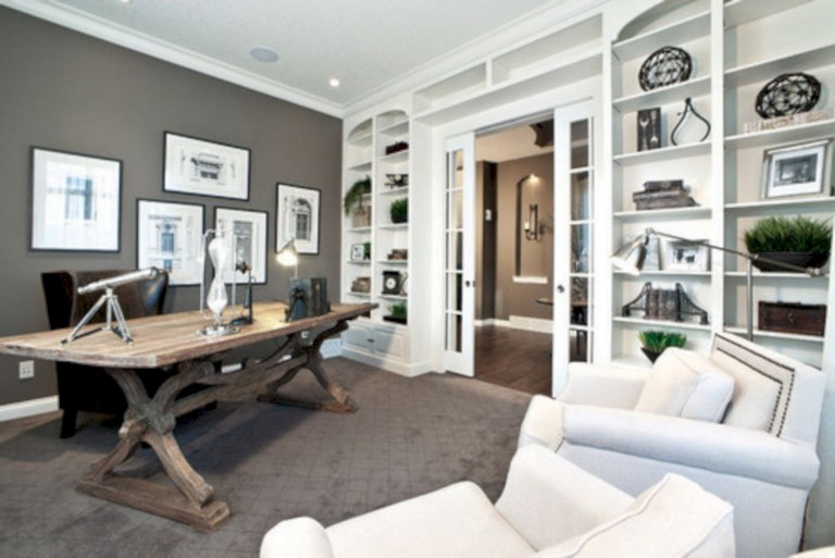 30 Cool Ideas How To Add Spring Touches To Your Home Office Page 8 Of 31 In 2020 Home Office Layouts Home Office Design Contemporary Home Office